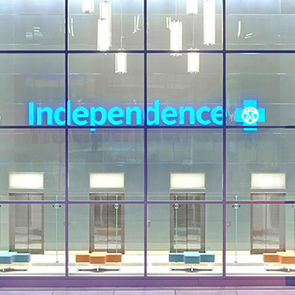 Витрина Independence Blue Cross