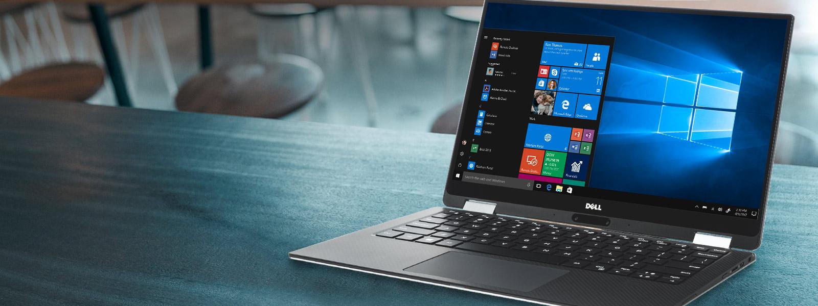 Меню «Пуск» Windows 10 на экране ноутбука