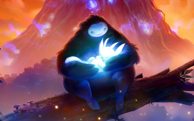 Заставка игры Ori and the Blind Forest