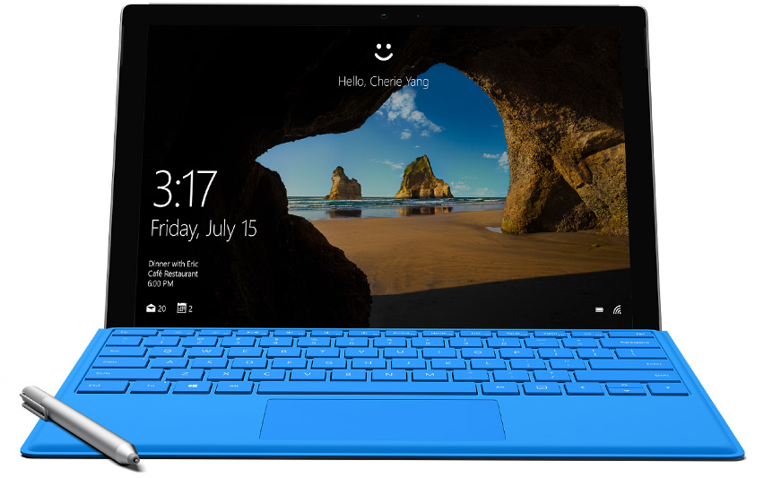 Windows Hello на Surface Pro 4