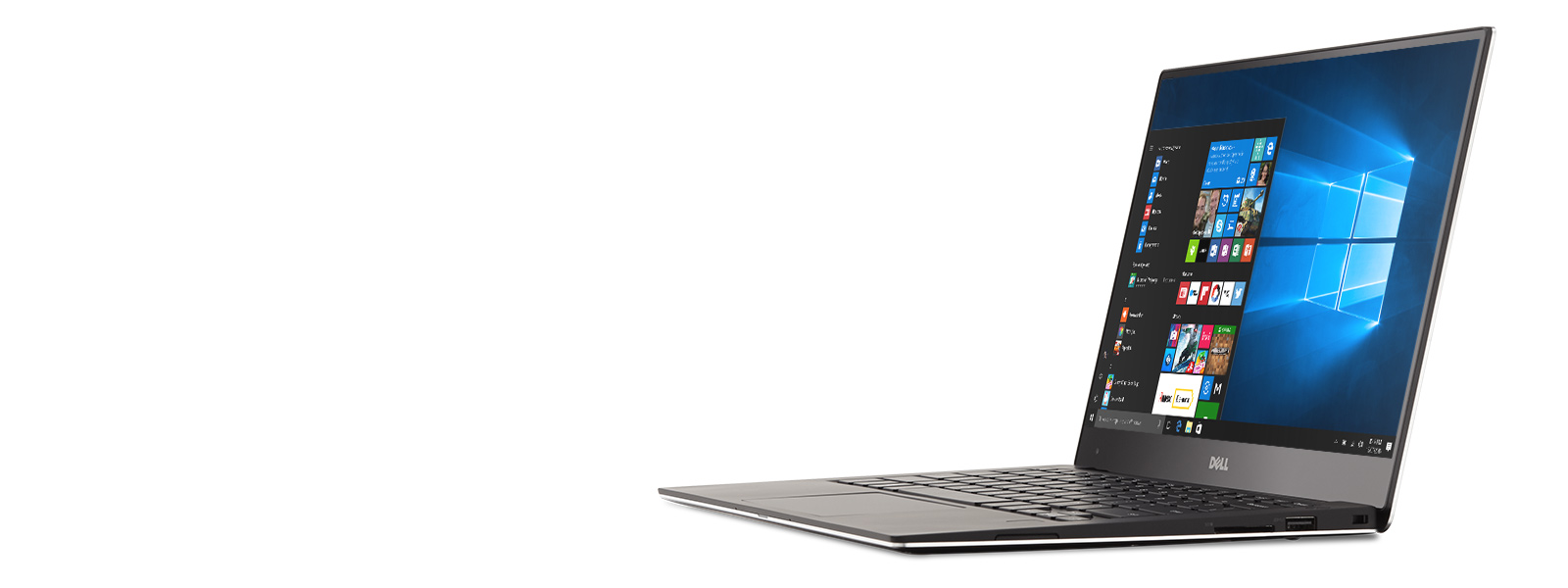 Dell XPS 13 with Windows 10 start screen