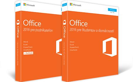 Office 2016 pre podnikateľov, Office 2016 pre študentov a domácnosti