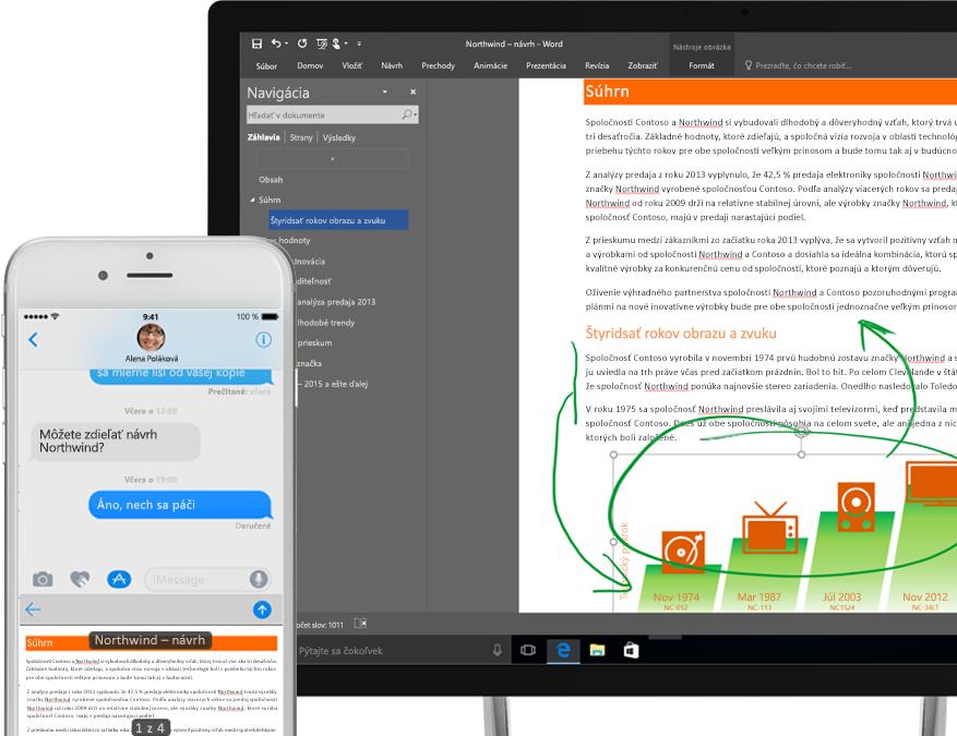Súbory vo OneDrive zobrazené vsmartfóne avtablete