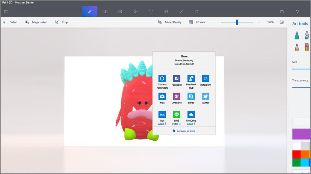 : 3D Skicár s otvorenou obrazovkou zdieľania