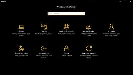Microsoft Windows 10 – tmavý režim