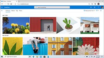 Zaslon s prikazanimi datotekami iz storitve OneDrive