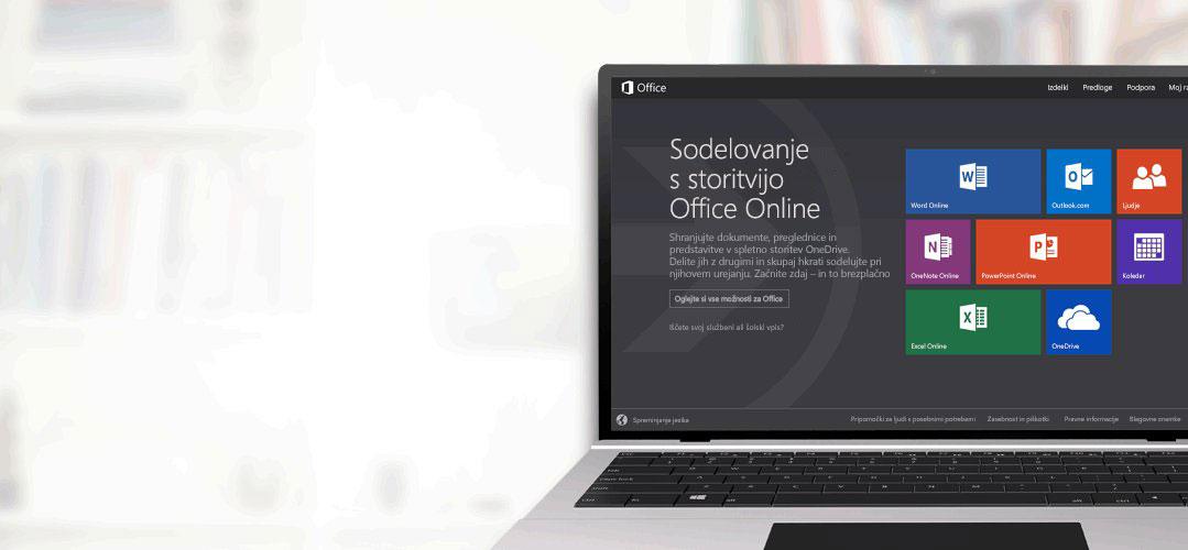 Sodelovanje s storitvijo Office Online