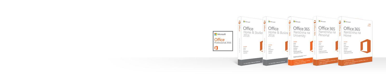 Upravljanje, prenos, varnostno kopiranje ali obnovitev Officeovih izdelkov