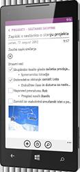OneNote za Windows Phone