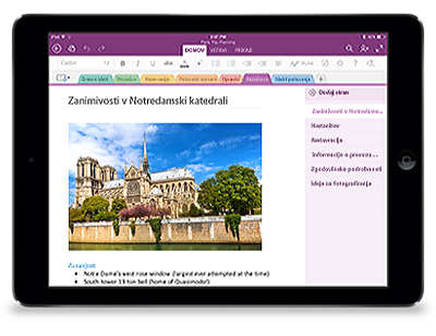 OneNote za iPad