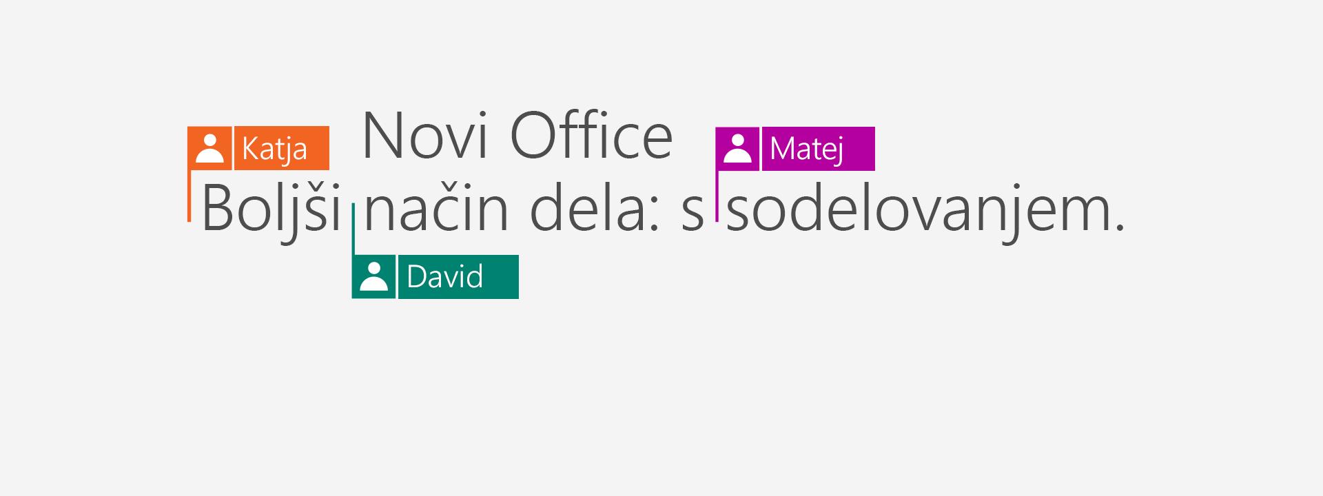Če želite nove programe različice 2016, kupite Office 365.