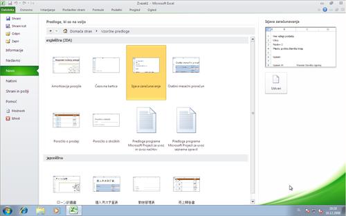 Jezikovni paketi za Office vas povežejo z brezplačnimi Officeovimi predlogami v jeziku prikaza