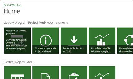Hiter začetek dela z Microsoft Projectom