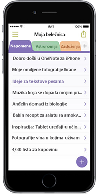 OneNote za iPhone