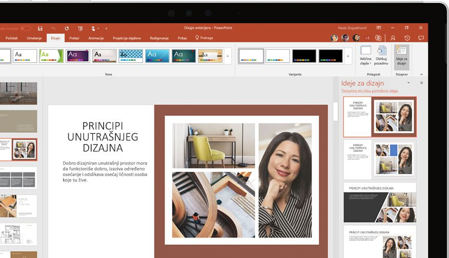 PowerPoint prezentacija koja se prikazuje na uređaju