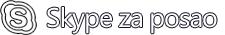 Logotip programa Skype za posao