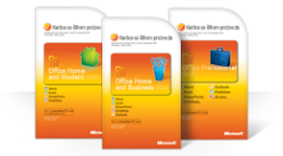 Korišćenje kartice sa šifrom proizvoda za Office 2010