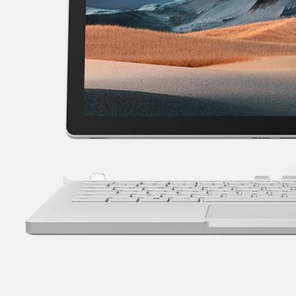Den nedersta vänstra delen av en skärm och ett tangentbord