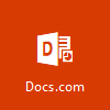 Docs.com-logotyp, öppna Docs.com för att ladda upp dokument kostnadsfritt