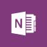 OneNote-logotyp, välkomstsida för Microsoft OneNote