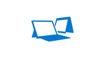Två 2-i-1-enheter med Windows 10