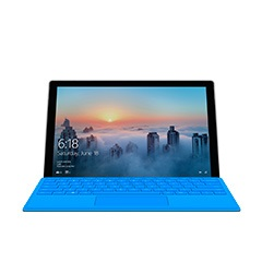 Surface Pro 4 sedd framifrån