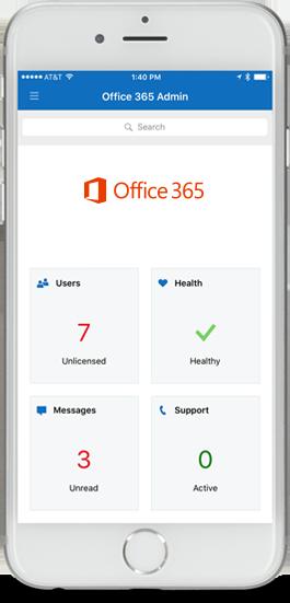 Office 365 Admin-appen