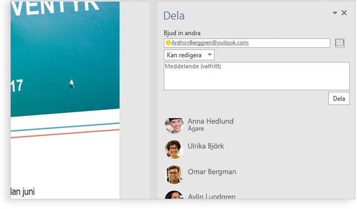 En datorskärm med ett Word-dokument som visar en närbild av Editor-funktionen med förslag på en ändring i en mening