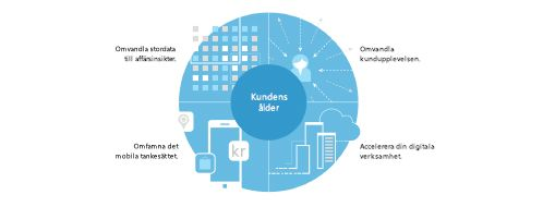 Diagrammet från TEI-studien visar en strategi i fyra delar för att skapa omvandlingar över hela företaget