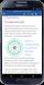 Android-telefon där en Office-app används