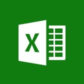 Microsoft Excel-logotyp, få information om Excel-mobilappen på sidan