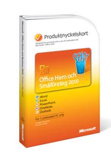 Produktnyckelkort för Office 2010