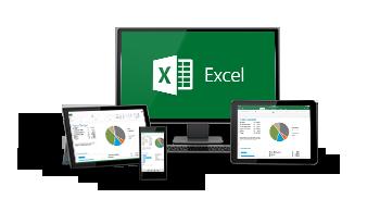 Excel kan användas på alla dina enheter.