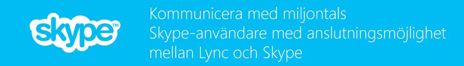 Lync-Skype-anslutning
