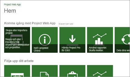 Kom igång snabbt med Microsoft Project