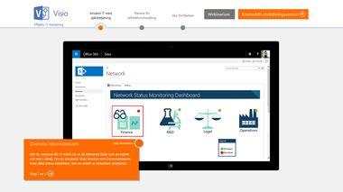 Skärmen Visio TestDrive, få en handledd genomgång av Visio Pro för Office365
