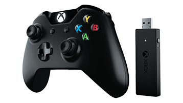 Xbox-handkontroll och trådlös adapter för Windows