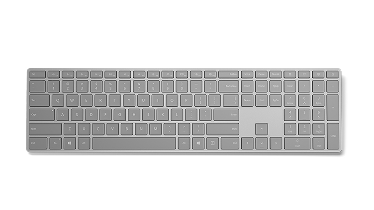 Surface Keyboard sett ovanifrån