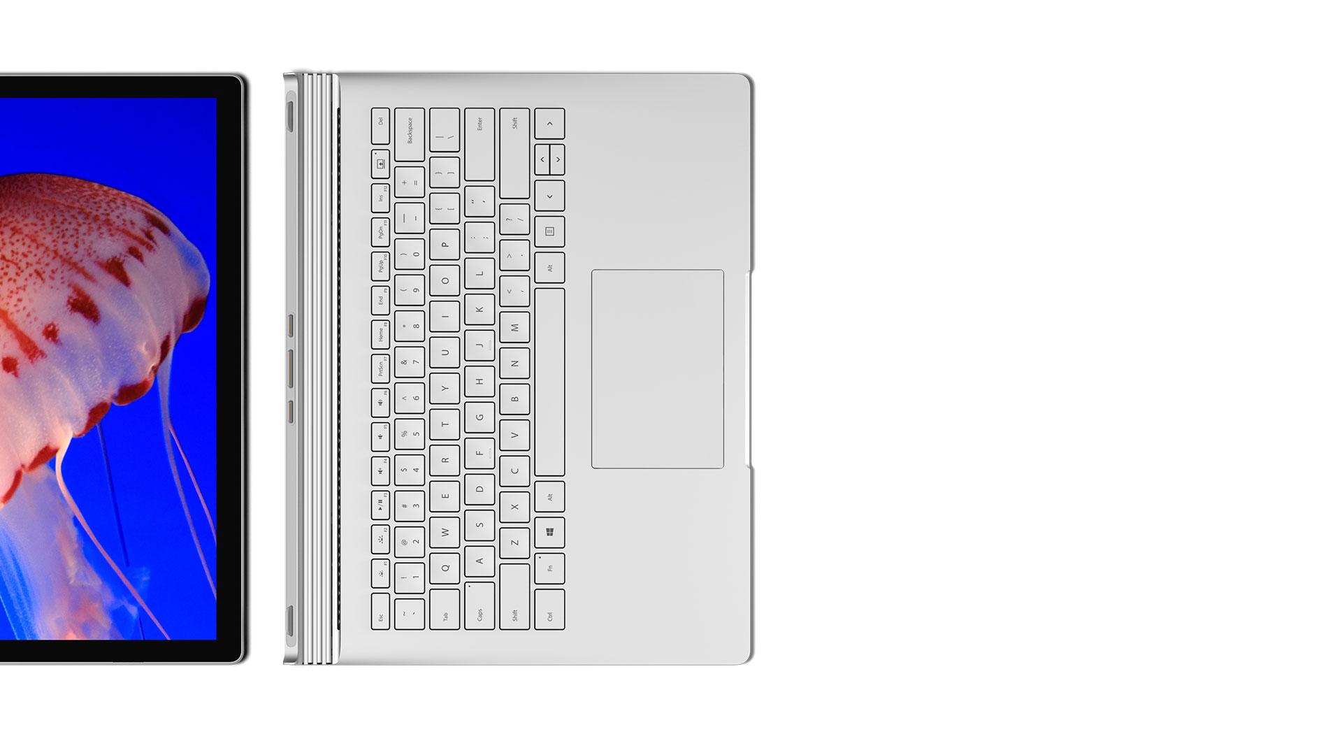 Surface Book-basen och skärmen kopplas loss