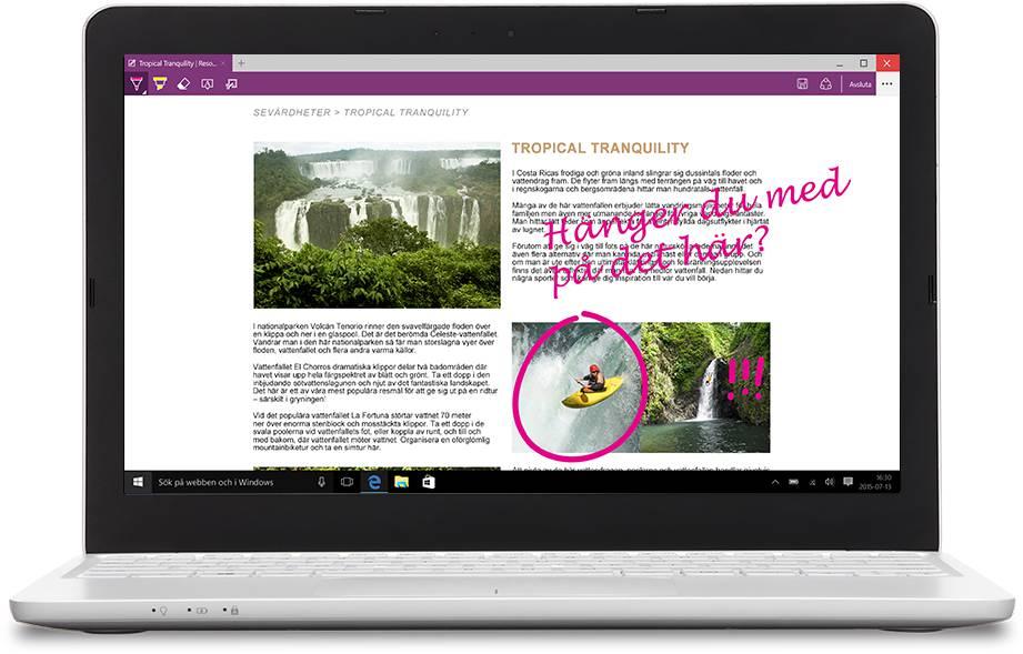 Bärbar dator med Microsoft Edge
