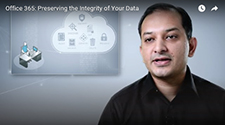 ภาพของ Rudra Mitra ขณะสนทนาเรื่องการป้องกันข้อมูลสำหรับ Office 365
