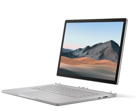 ภาพแสดง Surface Book 3 พร้อมจอแสดงผลที่ถอดออกจากฐานคีย์บอร์ด