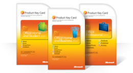 การใช้บัตรคีย์ผลิตภัณฑ์ Office 2010 ของคุณ