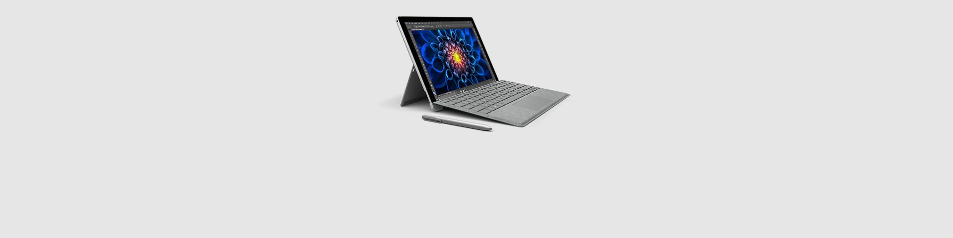 A Surface Pro 4 device
