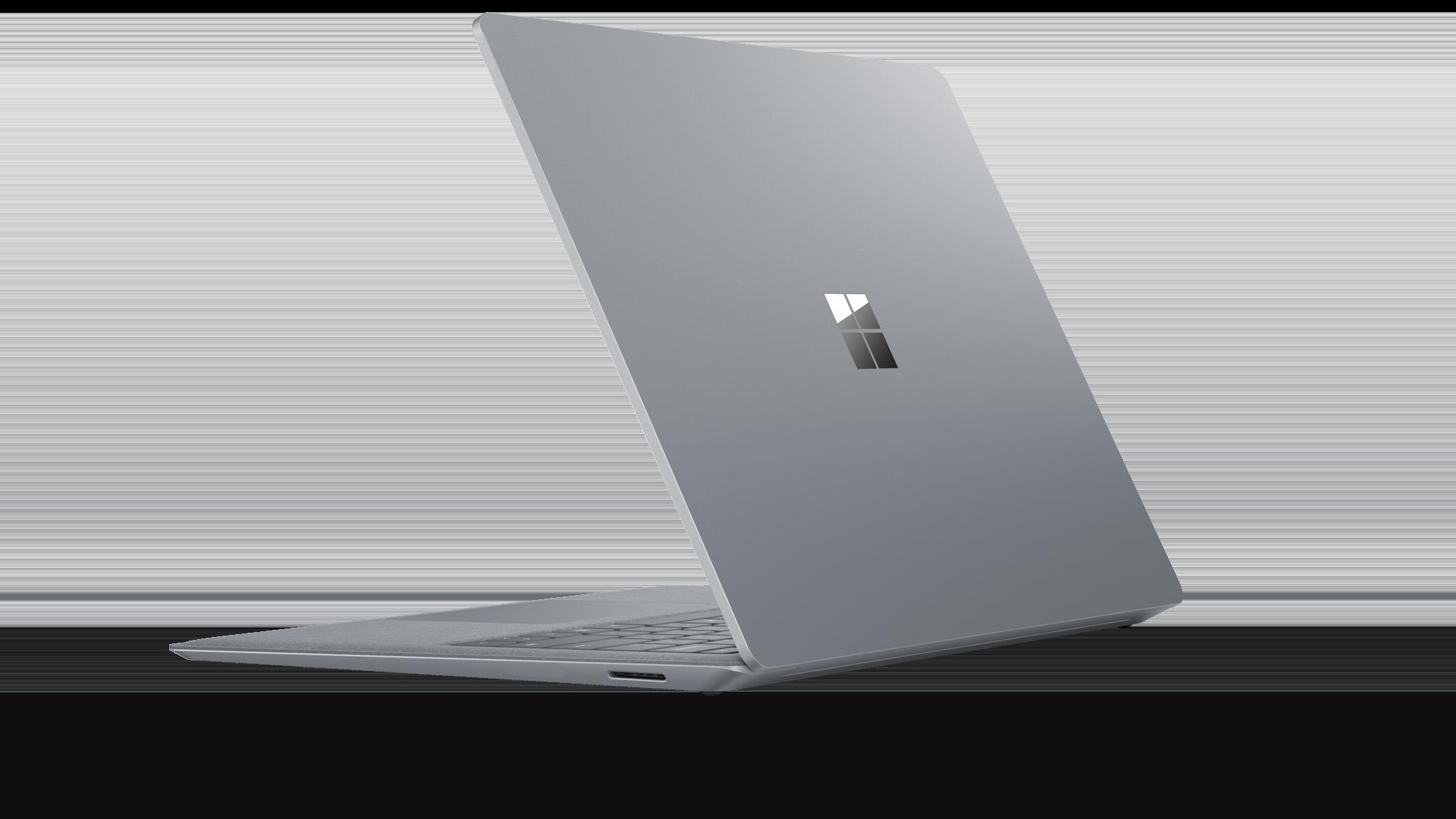 มุมมองด้านข้างของ Surface Laptop 2