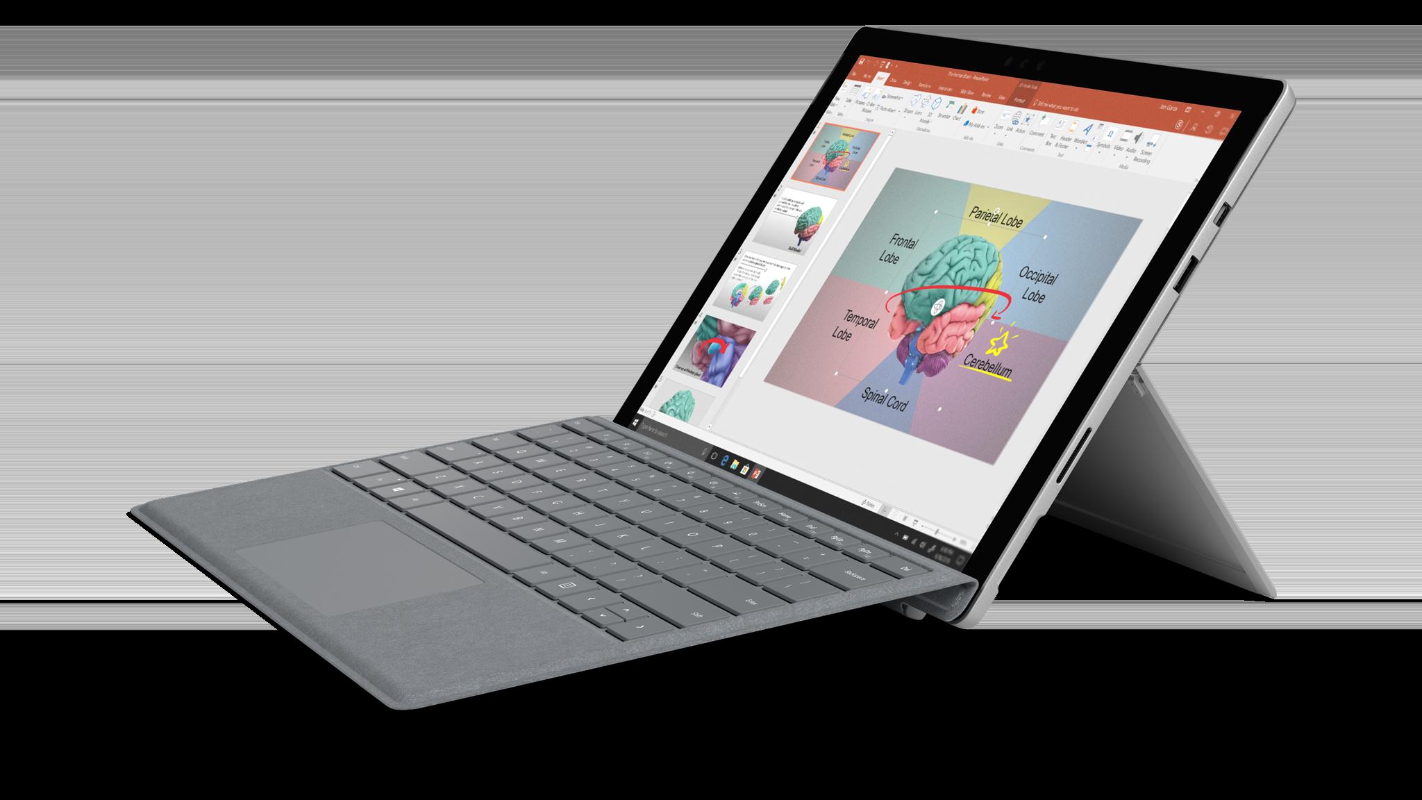 มุมมองด้านข้างของ Surface Pro