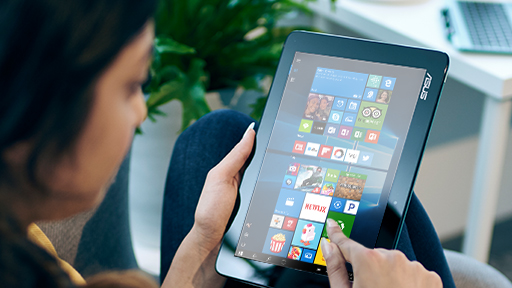 Tablet modunda Microsoft Windows dizüstü bilgisayar