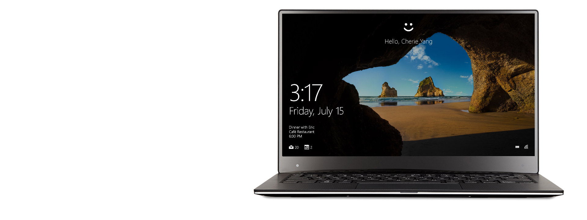 Dell XPS 13'te Windows Hello