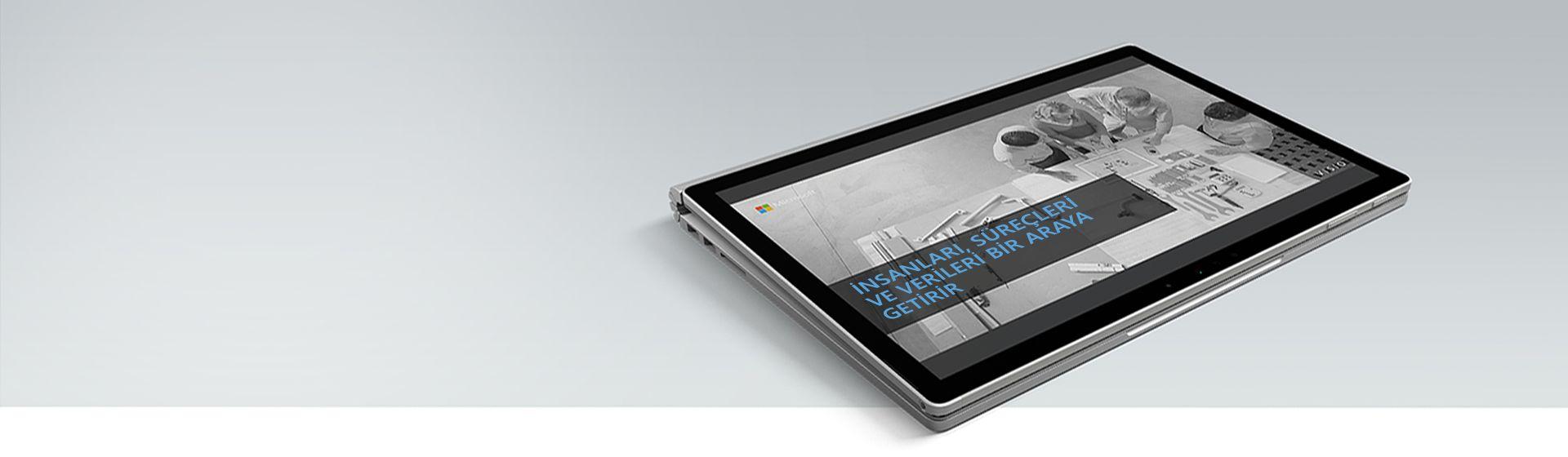 'Kişileri, Süreçleri ve Verileri Bir Araya Getirin' ifadesini gösteren bilgisayar ekranı