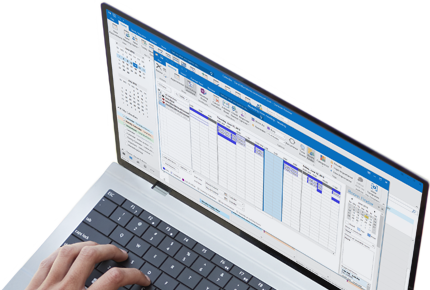 Outlook 2013'te anlık ileti yanıt penceresinin açık olduğu bir dizüstü bilgisayar.
